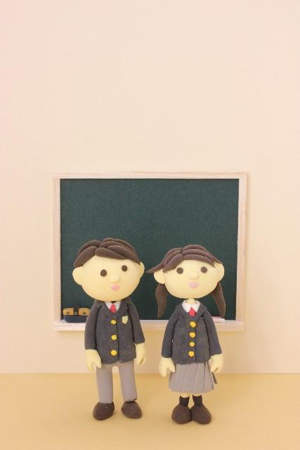 中学生の人形