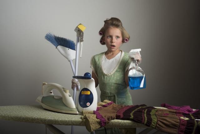 家事に悩んでいる女性