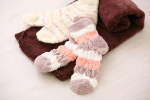 靴下とタオル