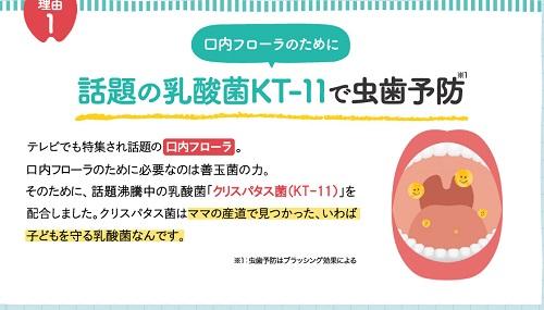 はっぴーすの虫歯予防効果